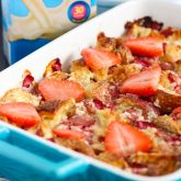Strawberries and Cream Croissant Bake {Plus a Video!}