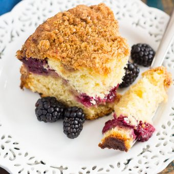 Blackberry Crumb Coffee Cake