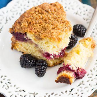 Blackberry Crumb Coffee Cake