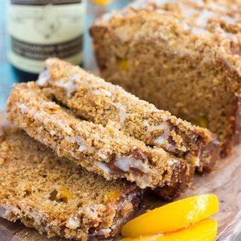 Glazed Peach Streusel Bread