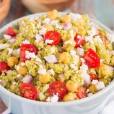 Quinoa and Chickpea Pesto Salad