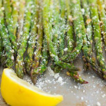 Roasted Lemon Parmesan Asparagus