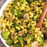 30 Minute Thursday: Basil Pesto Pasta with Broccoli and Mushrooms