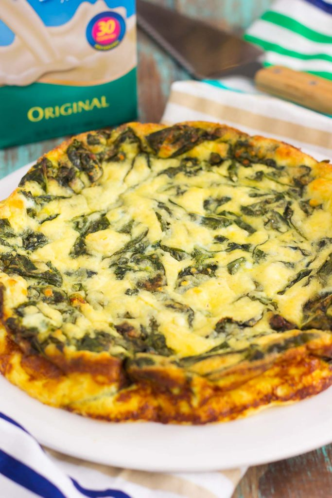 This Spinach and Feta Frittata is full of fresh spinach and ..