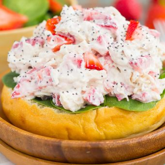 Strawberry Poppy Seed Chicken Salad