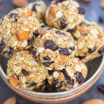 Blueberry Almond Butter Energy Bites