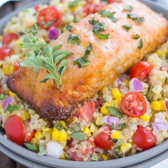 30 Minute Thursday: Honey Garlic Salmon Quinoa Bowl