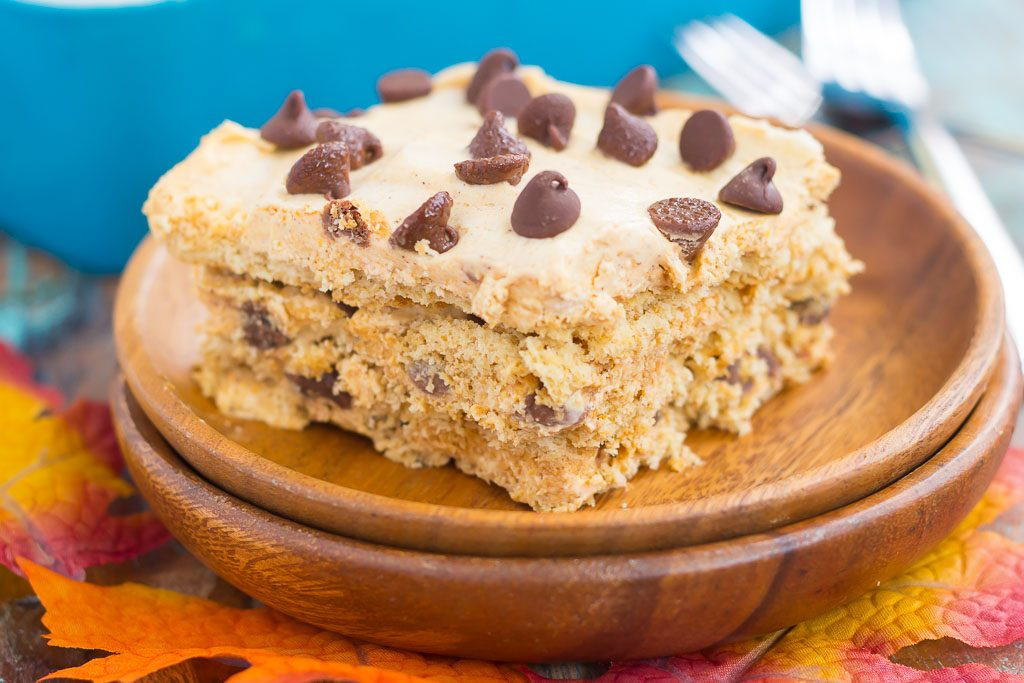 No bake pumpkin chocolate chip icebox cake pumpkin 39 n for Easy no bake dessert recipes with few ingredients