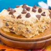 {No-Bake} Pumpkin Chocolate Chip Icebox Cake