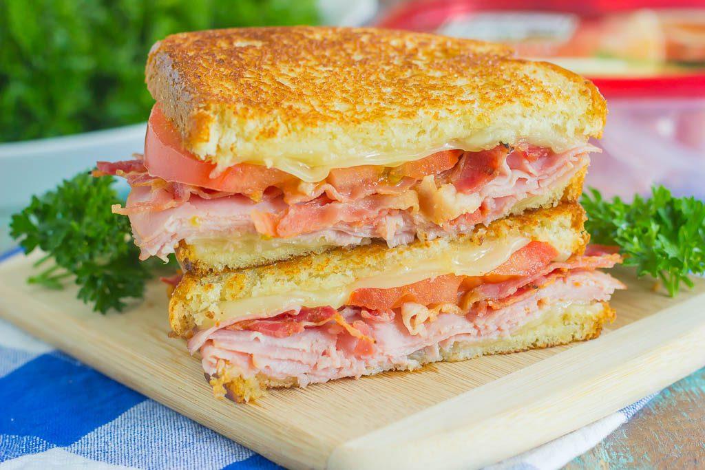 Grilled Ham and Swiss Sandwich - Pumpkin 'N Spice