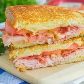 Grilled Ham and Swiss Sandwich