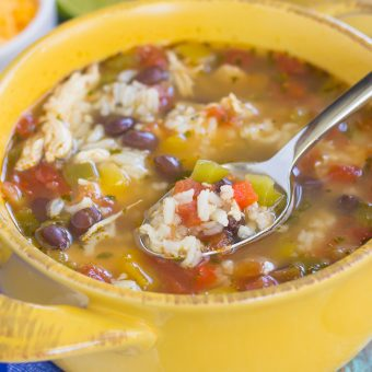 One Pot Chicken Fajita Soup