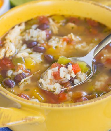 This One Pot Chicken Fajita Soup filled with your favorite fajita flavors, made in one pot, and ready in just 30 minutes. This soup is an easy and delicious weeknight meal that will have you coming back for more!