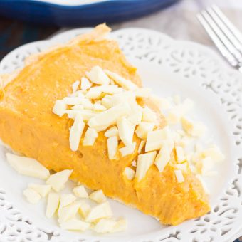 Pumpkin White Chocolate Pie