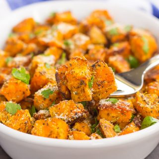 Roasted Parmesan Herb Sweet Potatoes