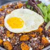 Roasted Parmesan Sweet Potato Quinoa Bowl