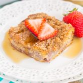 Strawberry Cinnamon Pancake Casserole