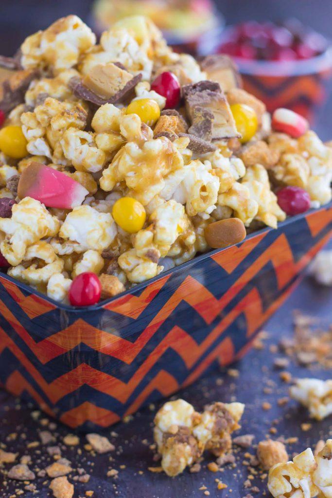 Peanut Butter Candy Popcorn - Pumpkin 'N Spice