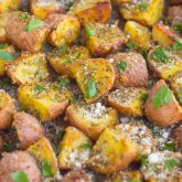 Herb Roasted Potatoes with Tilapia