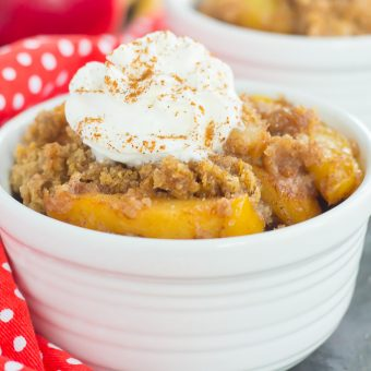 Slow Cooker Apple Cinnamon Dump Cake {Plus a Video!}