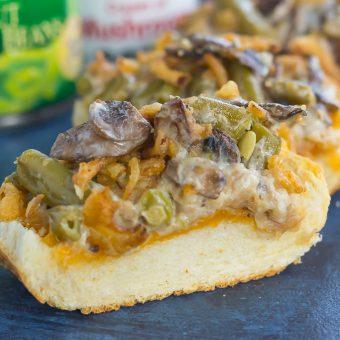 Green Bean Casserole Cheesy Bread