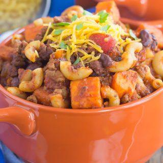 Sweet Potato Chili Pasta {Plus a Video!}