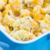 Baked Cheesy Cauliflower {Plus a Video!}