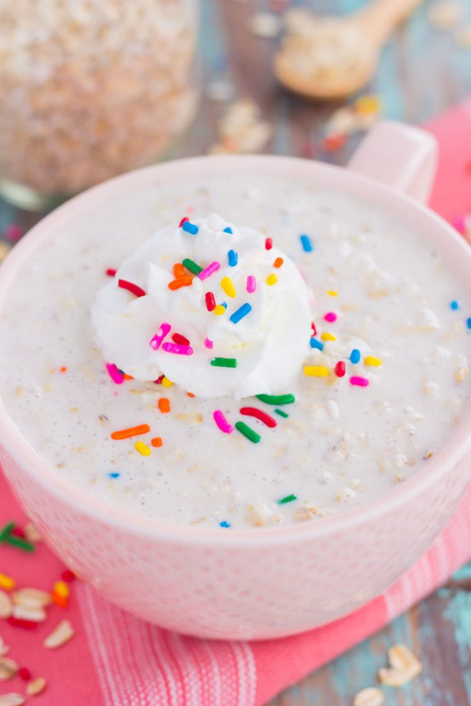 Cake Batter Overnight Oats Are A Sweet And Healthier Make Ahead Breakfast Hearty