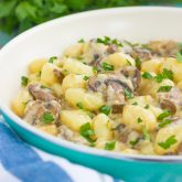 30 Minute Thursday: Garlic Parmesan Gnocchi with Mushrooms