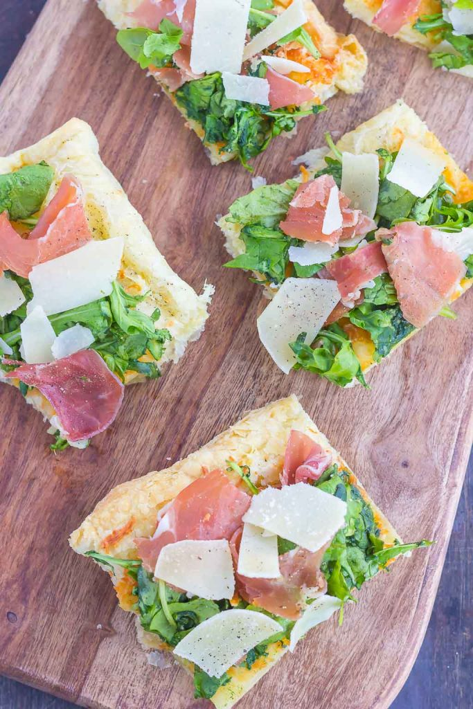 This Arugula And Prosciutto Puff Pastry Pizza Is Easy To Make And Ready In About 20
