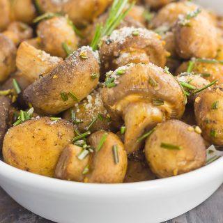 Roasted Mushrooms with Garlic and Rosemary