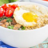 Meal for One: Savory Oatmeal Breakfast Bowl