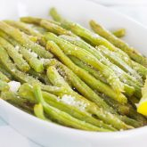 Roasted Lemon Garlic Green Beans & Barber Foods