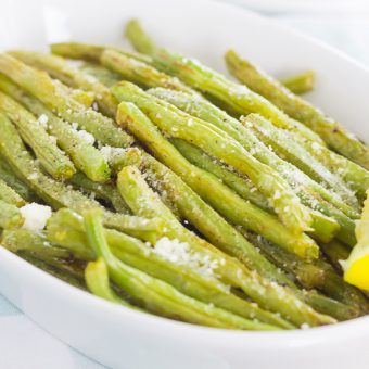 Roasted Lemon Garlic Green Beans & Barber Foods