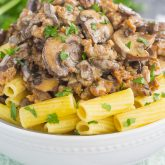 30 Minute Thursday: Creamy Sausage and Mushroom Rigatoni