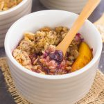 With fresh blueberries, juicy peaches, and a buttery crumble topping, this Blueberry Peach Crisp will quickly become your favorite dessert!