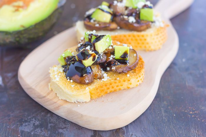 Mushroom, Avocado and Feta Toast
