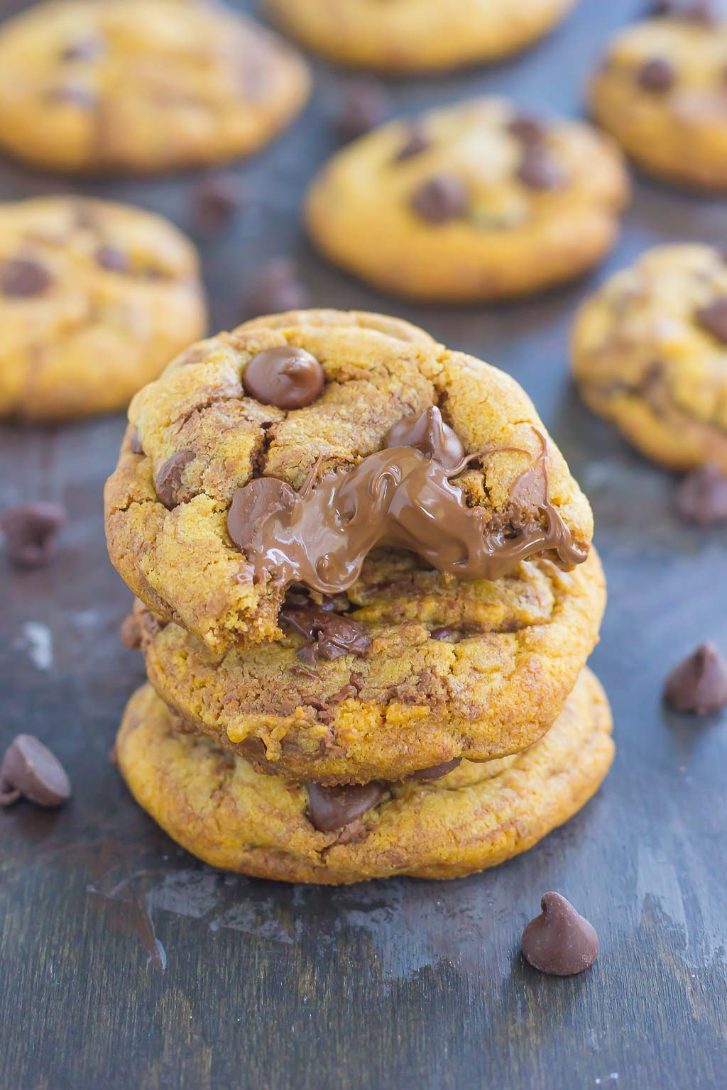 These Nutella Stuffed Chocolate Chip Cookies are sure to satisfy your sweet tooth. Loaded with creamy Nutella and rich chocolate, you'll be baking these over and over again!