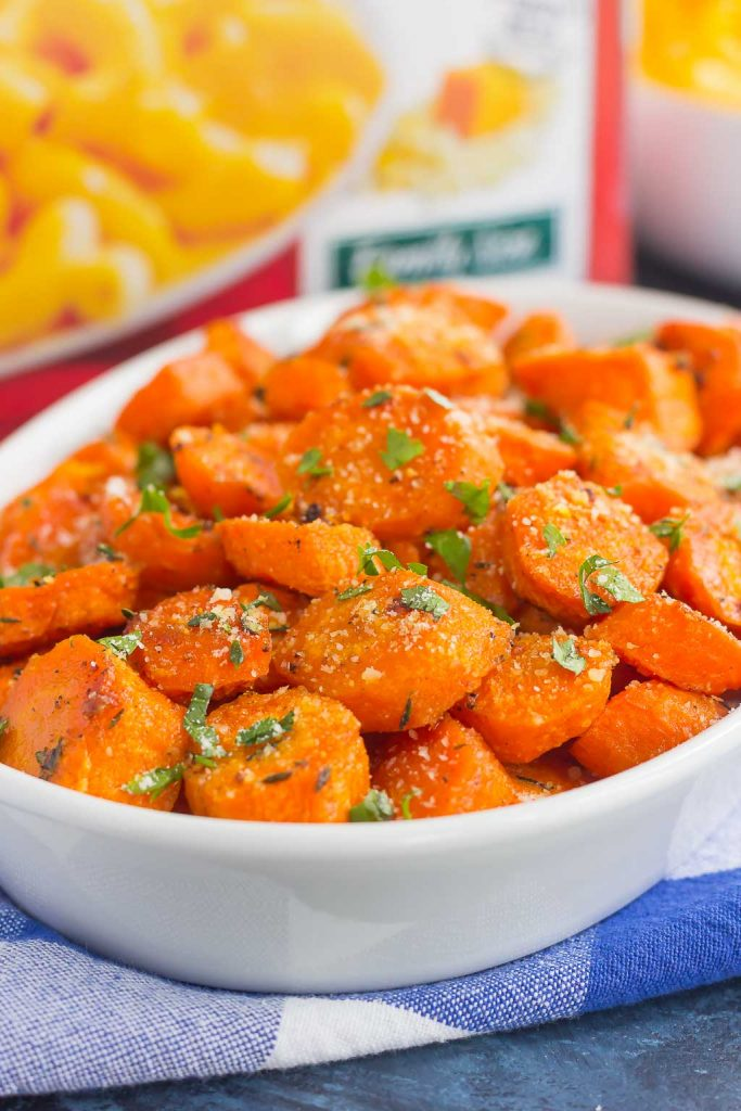 These Parmesan Honey Roasted Carrots make a deliciously easy side dish that's ready in no time. Packed with sweet and savory flavors and roasted until tender, these carrots are fresh, flavorful and perfect alongside any dish! #carrots #roastedcarrots #carrotrecipe #parmeancarrots #honeycarrots #sidedish #easysidedish #vegetables