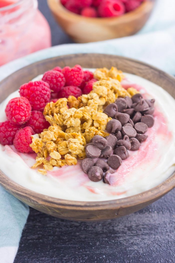 Raspberry Grapefruit Yogurt Bowl