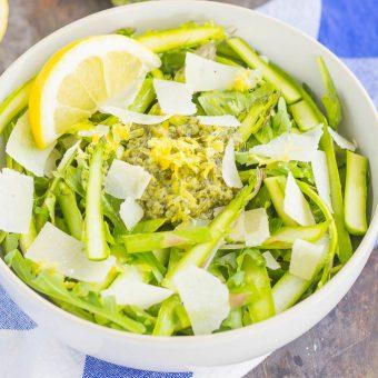 Shaved Asparagus Pesto Salad