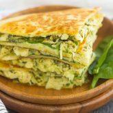 Chicken and Spinach Pesto Quesadillas {Plus a Video!}