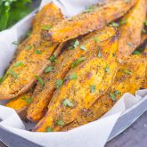 Garlic Herb Sweet Potato Wedges