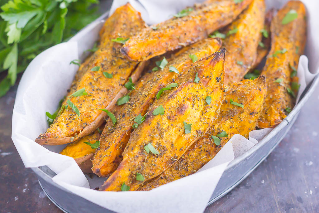 lowest discount amazing selection cute cheap Garlic Herb Sweet Potato Wedges