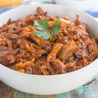 Slow Cooker Barbecue Pulled Pork {Plus a Video!}