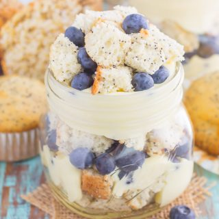 Blueberry Almond Poppy Seed Muffin Trifles