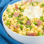 Garlic Butter Pastawith Prosciutto and Peas is a simple dish that's ready in less than 30 minutes. Filled with tender pasta, crispy prosciutto, peas, and a garlic butter sauce, this meal is packedsimple ingredients and perfect for the whole family to enjoy!