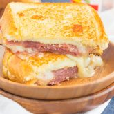 Prosciutto, Raspberry and Brie Grilled Cheese