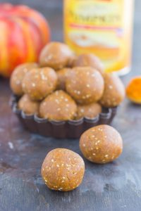 pumpkin energy balls piled together