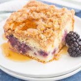 Blackberry Streusel Pancake Casserole